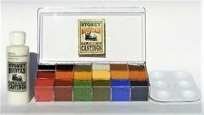SMC-912 O-Scale 18 Color Weathering Kit, 4 oz. Solution, w/Paint Tray & Inst.