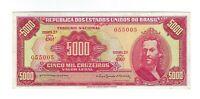 1000 Cruzeiros Brasilien aUNC 1964 C108 / P.182b - 055005 Fancy Number Brazil