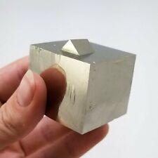 Pyrite, Large Cube, 3.2cm³, from the Victoria Mine in Navajún, La Rioja, Spain