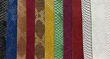 vinyl faux Fake leather Snake Viper Embossed fabric ships rolled