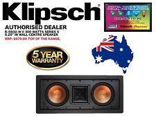 """Klipsch R-5502-W II 300 Watts 2 X 5.25"""" In-Wall Speaker (Series 5) RRP: $679"""