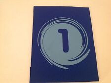 """Neoprene Sewing Patch Number 1 Swirl Royal Blue Rectangle 8"""" x 6"""" Soft"""