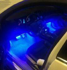 4X Car LED Interior Atmosphere Under Floor Footwell Lamp Light Strip Blue DC 12V