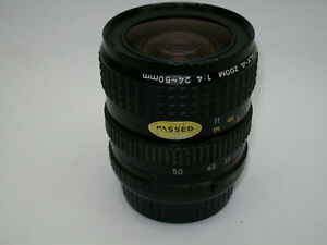 PENTAX-A 24-50MM 1:4 MULTICOATED WIDE ANGLE TO STANDARD HIGH QUALITY ZOOM LENS
