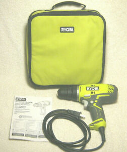 """RYOBI D48C 3/8"""" COMPACT CLUTCHDRIVER CORDED ELECTRIC DRILL DRIVER CASE & MANUAL"""