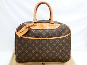 Auth Louis Vuitton Hand Bag Deauville M47270 Monogram Brown U.S.A. 06180168800 P