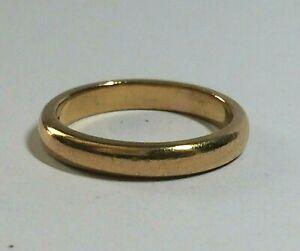 22 CT YELLOW GOLD VINTAGE SMALL POSY/WEDDING RING/BAND, LONDON.1935. 3.80.GRAMS
