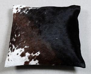 100% NEW COWHIDE LEATHER CUSHION COVER RUG COW HIDE HAIR ON CUSHION SA-6921