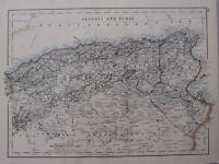 1904 Landkarte ~ Algerien Und Tunis Constantine Alger Oran