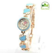 New Hello kitty watch girls women's  children quartz watches-Sky Light Blue