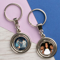 Personalised Photo Keyring Chain Mothers Day Gifts for Grandma Nanny Print Metal