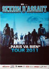 SEXION D'ASSAUT - 2011 - Tourplakat - Paris Va Bien - Tourposter