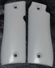 Colt government .380 ACP pistol grips pure white plastic