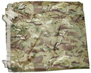 New British Army Issue MTP Multicam Camo Shelter Basha Sheet Tarp + Stuff Sack