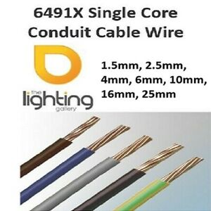 6491X Single Core Conduit Cable 1.5mm 2.5mm 4mm 6mm 10mm 16mm 25mm / 100 Metre