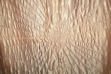 Vintage Quilted Satin Reversible Bedspread Comforter! Pinky Peach Awesome!