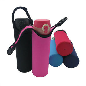 401-500ml Practical Water Bottle Carrier Insulated Cover Bag Holder Strap Pouch