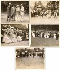 Victorian Men Women Fair Competition Tug War Egg Race Blindfold Megaphone Photos