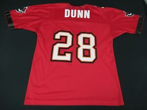 VINTAGE CHAMPION TAMPA BAY BUCS WARRICK DUNN 28  RED LARGE 44 JERSEY