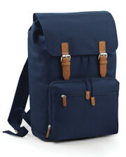 "BagBase Vintage 17"" Laptop Backpack Rucksack Bag Travel Work Casual (BG613)"