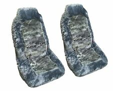 Gray Synthetic Sheep Skin Front Seat Covers (Pack of 2)  Sheepskin HS9