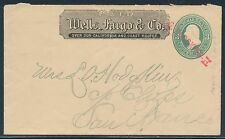 "#U161 ENTIRE WELLS FARGO & Co W/ ""G"" HODGKINS H CNL TO C/O CHIPS SAN FRAN BT8256"