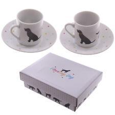 Puckator I Love My Chien Porcelaine Petit Espresso Tasse & Sous-Tasse Set de 2