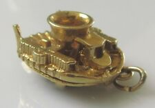 Vintage 9ct Yellow Gold SR-N1 Hovercraft (Opening) Charm