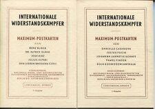 DDR 881-85+918-22 Maximumkarten 1962 Widerstandskämpfer 1.+2. Aufl. top (B07889)