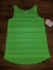 Girls Size 7-8 Faded Glory New W. Tags Green Tank Top