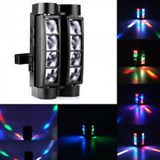 80W Rgb 8 Leds Spider Moving Head Stage Lighting Beam Dmx Disco Party Dj Lights