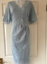 New   Marks & Spencer Lace Occasion Dress Size 18 Body Shaper   Baby Blue
