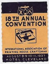 USA Poster Stamp: 1937 Int'l Assoc Printing House Craftsman, 18th Annual (dw295)