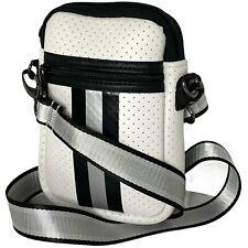 NEW WOT Haute Shore Casey Crossbody Small Bag - White w/ Black & Gray Accents