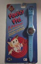 Porky Pig Atlanta Braves Comic Ball Hologram Watch MOC