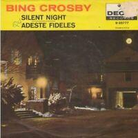 Crosby, Bing - Silent Night/Adeste Fideles PS Vinyl 45 rpm Record Decca 23777