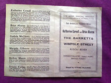 Old theatre document The Barretts of Wimpole Street Katharine Cornell Marseille