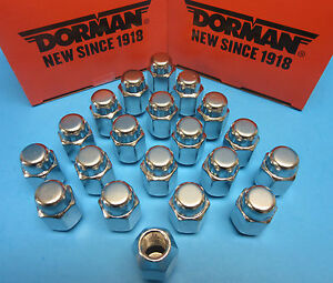 20 Wheel Lug Nuts Replace GMC OEM # 6110841 CHROME M12-1.50