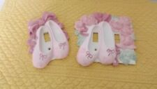 BALLERINA LIGHT SWITCH PLATE COVERS CERAMIC 1 SINGLE AND 1 DOUBLE