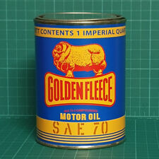 VINTAGE REPLICA GOLDEN FLEECE OIL TIN CAN REPRODUCTION TIN CANS DISPLAY PROPS