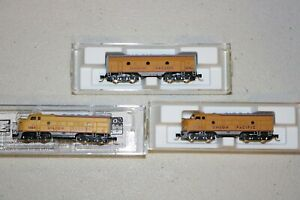 Micro-Trains Z Scale UP Union Pacific F7 ABA - BEAUTIFUL RUNNING SET
