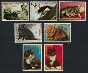 Equatorial Guinea #Mi1394-Mi1400 MNH CV€3.50 Cats Kittens
