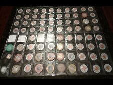 Set 72 Diff PUERTO RICO ENCASED Coin Lucky Penny Cent to Quarter lot COLLECTION