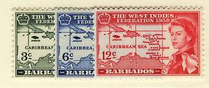 BARBADOS 1958 CARIBBEAN FEDERATION  MNH