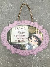 Love You To The Moon And Back Wall Hanging Sign
