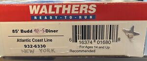 Walthers 85' Budd Diner ACL Atlantic Coast Line
