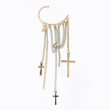 Metal Cross Long Tassel Non-pierced Ear Cuff Earring Women Hot I8I7