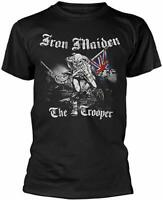 Men's Iron Maiden Sketched Trooper Round Collar Short Sleeve T-Shirt BNWT NEW