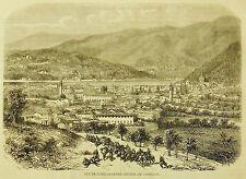 1859:Guerre d'Italie.Vista di Como,Quartier Generale Garibaldi-Etna.Risorgimento
