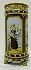 Cylindrical Mettlach stoneware vase by Christine Warth, c 1900, Villeroy & Boch